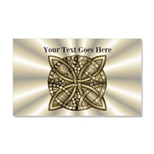 Medieval Style Celtic Knot Gold Car Magnet 20 x 12