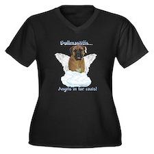 Bullmastiff Angel Women's Plus Size V-Neck Dark T-