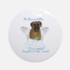 Bullmastiff Angel Ornament (Round)