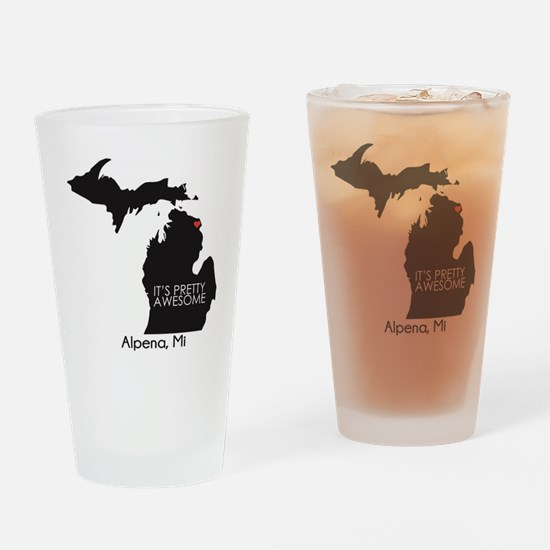 Funny Northern michigan Drinking Glass