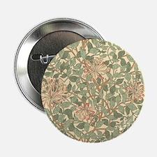 """William Morris Honeysuckle 2.25"""" Button"""