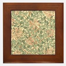 William Morris Honeysuckle Framed Tile