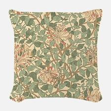 William Morris Honeysuckle Woven Throw Pillow