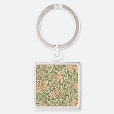 William Morris Honeysuckle Square Keychain