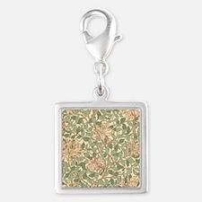 William Morris Honeysuckle Silver Square Charm