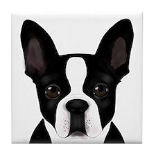 Boston Terrier Tile Coaster