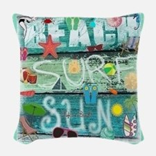 Beach Woven Throw Pillow