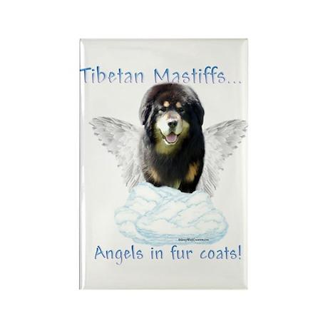 Tibetan Angel Rectangle Magnet