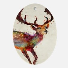 Oh deer! Oval Ornament