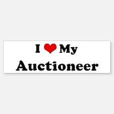 I Love Auctioneer Bumper Bumper Bumper Sticker