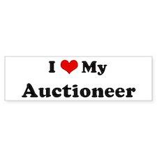 I Love Auctioneer Bumper Bumper Sticker