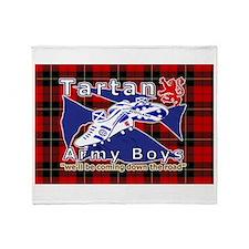 Scottish Red Tartan Army Throw Blanket