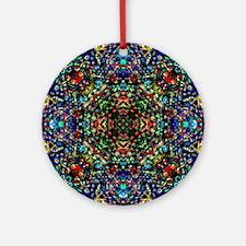 Dark Jewel Round Ornament