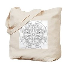 Large Hadron Collider Lineart Tote Bag