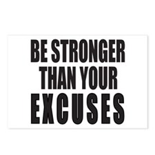 BE STRONGER THAN YOUR EXC Postcards (Package of 8)