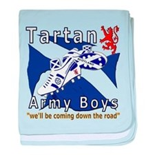 Tartan Army Boys Coming baby blanket