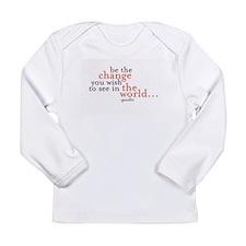 Unique Gandhi Long Sleeve Infant T-Shirt