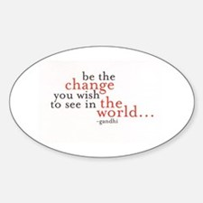 Cute Change quote Sticker (Oval)