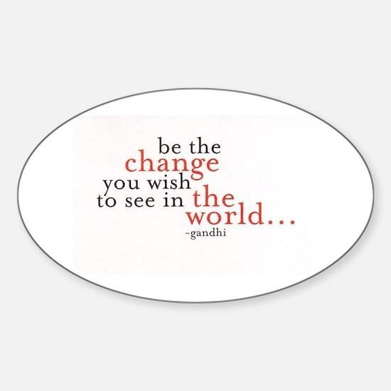 Cute Ghandi Sticker (Oval)