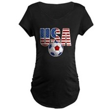 USA Soccer Maternity T-Shirt