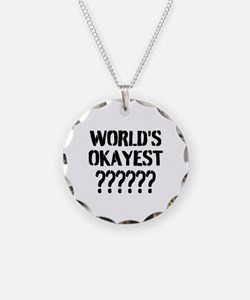 Worlds Okayest   Personalized Necklace
