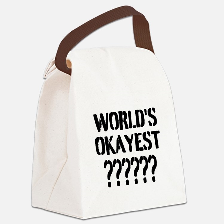 Worlds Okayest | Personalized Canvas Lunch Bag
