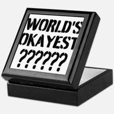Worlds Okayest | Personalized Keepsake Box