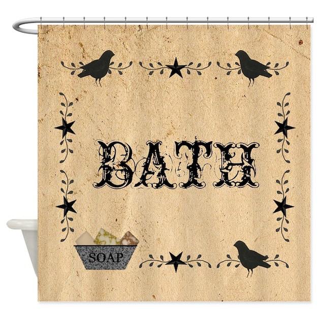 Primitive Bath Shower Curtain By Mousefx