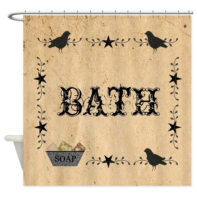 Primitive Bath Shower Curtain By Mousefx