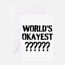 Worlds Okayest   Personalized Greeting Cards