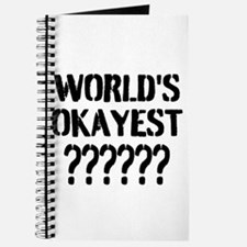 Worlds Okayest | Personalized Journal