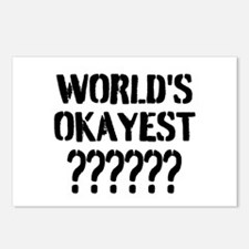Worlds Okayest | Personalized Postcards (Package o