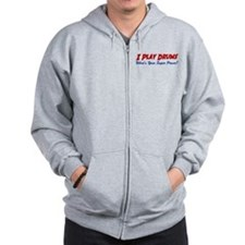 Play Drums Super Power Zip Hoodie