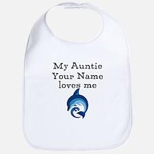 My Auntie Loves Me Dolphin (Custom) Bib