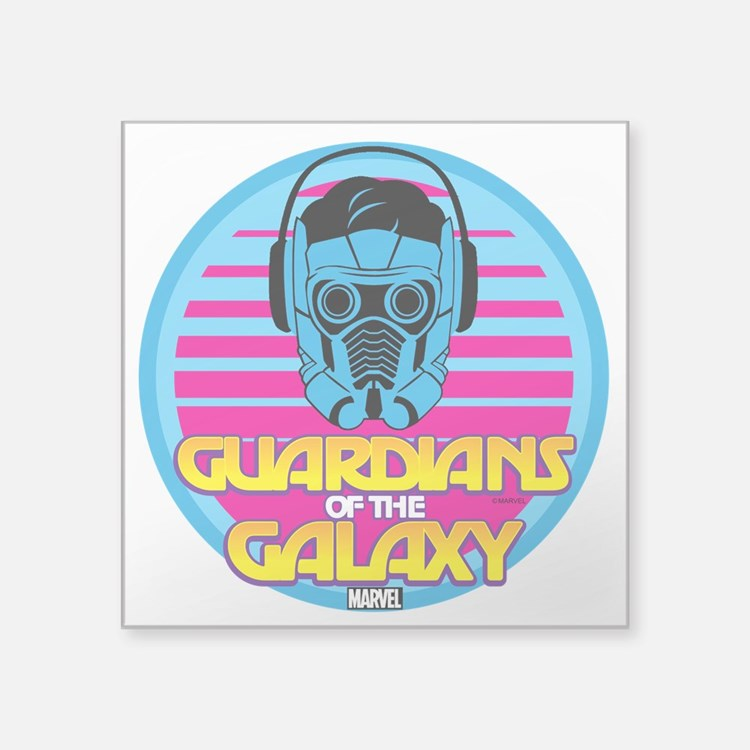 "80s Star Lord Square Sticker 3"" x 3"""