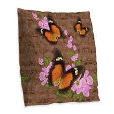 Lacewing Butterfly Design Burlap Throw Pillow