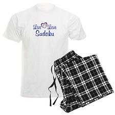 Live Love Sudoku Pajamas