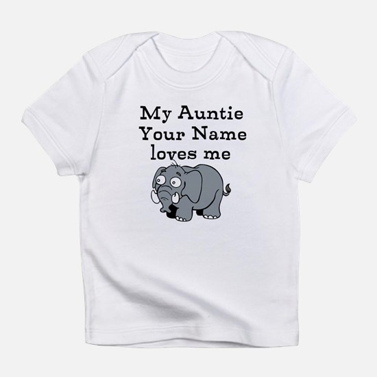 My Auntie Loves Me Elephant (Custom) Infant T-Shir