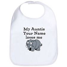 My Auntie Loves Me Elephant (Custom) Bib