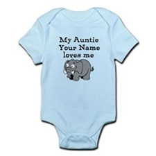 My Auntie Loves Me Elephant (Custom) Body Suit