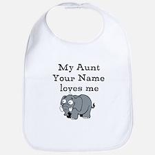 My Aunt Loves Me Elephant (Custom) Bib