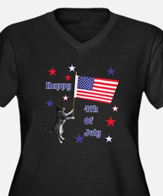 Happy 4th Of July Kitty Plus Size T-Shirt