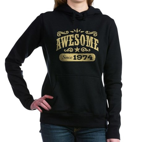 Awesome Since 1974 Women's Hooded Sweatshirt