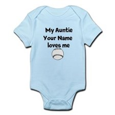 My Auntie Loves Me Baseball (Custom) Body Suit