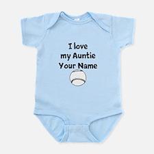 I Love My Auntie Baseball (Custom) Body Suit