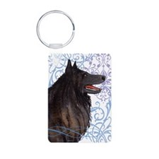 Belgian Sheepdog Aluminum Photo Keychain
