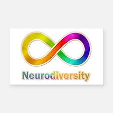 Neurodiversity Rectangle Car Magnet