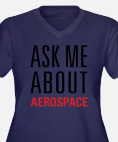 Aerospace - Women's Plus Size V-Neck Dark T-Shirt