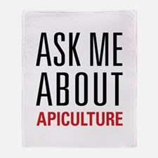 Apiculture - Ask Me About Throw Blanket