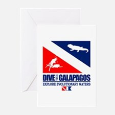Dive The Galapagos Greeting Cards